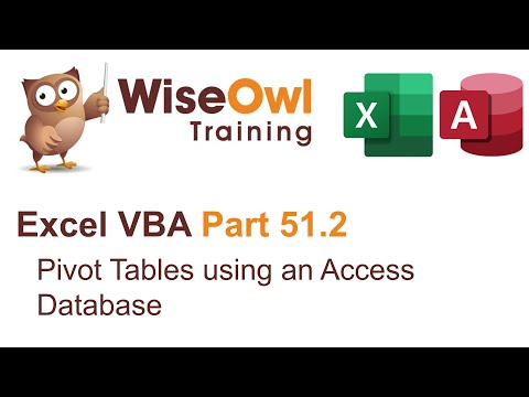 Excel VBA Introduction Part 51.2 - Pivot Tables using an Access Database