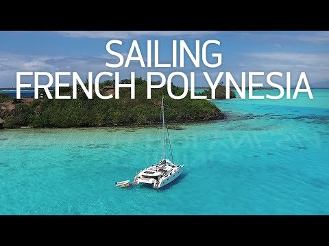 SAILING IN TAHITI - TradeWinds Yacht Charter (DJI Phantom 4 Drone Video)