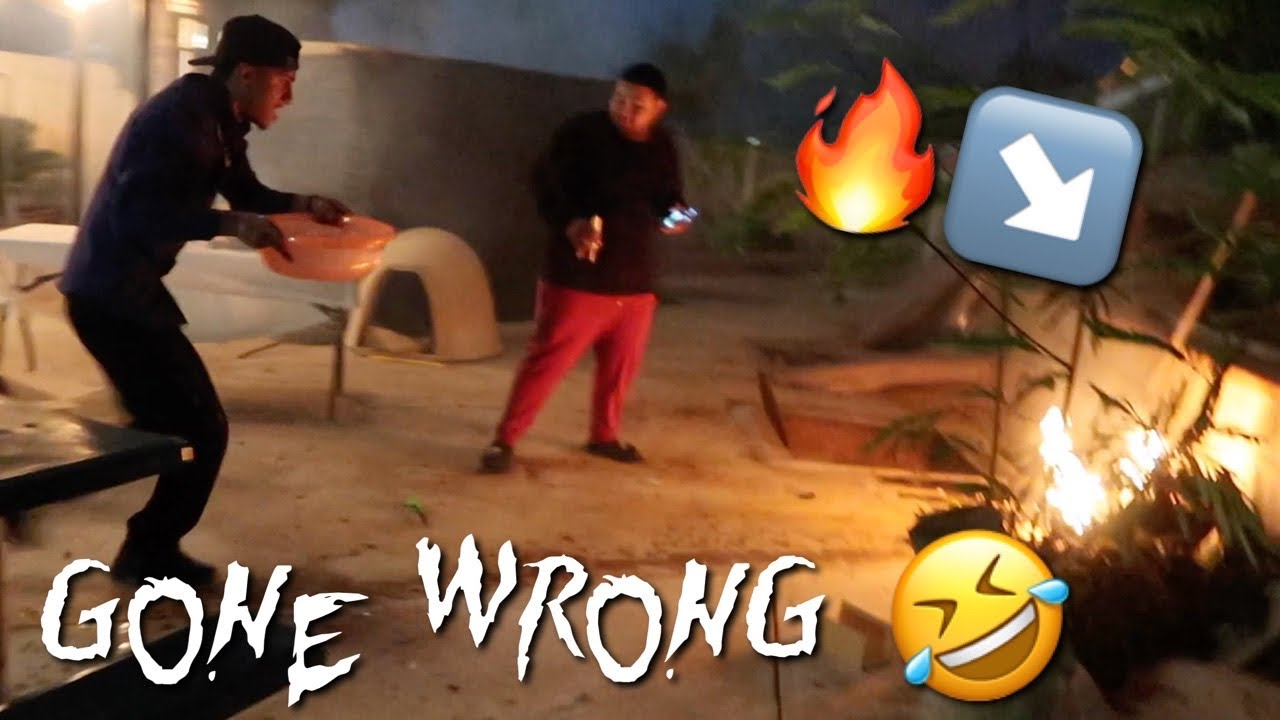 Firework Show Gone Wrong **CAUGHT ON FIRE**
