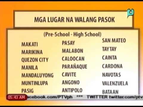 [Balitaan] Ilang lugar sa Luzon nagdeklara ng walang pasok [07 15 14]