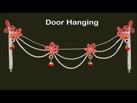 Beautiful Handmade Door Hanging Using Pearls || DIY Wall Hanging Craft Ideas Small Living Room