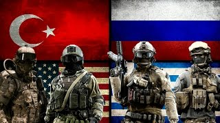 TURKEY & USA VS GREECE & RUSSIA - Military Power Comparison 2017
