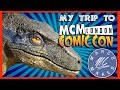 MCM Comic Con London - A trip with my BLUE Raptor Head Puppet