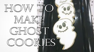 HOW TO MAKE EASY HALLOWEEN GHOST COOKIES!