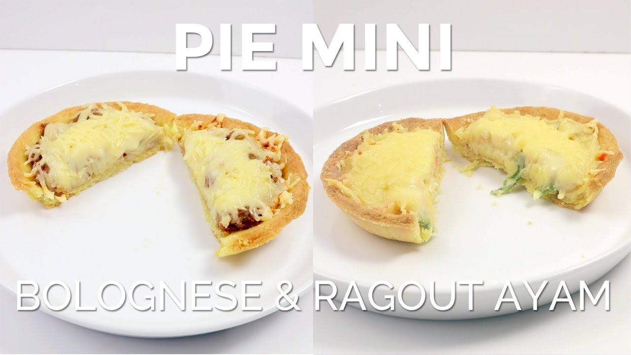 Pie Mini Dengan Isian Asin Dan Topping Keju Isi Bolognese Dan Ragout Ayam Savory Mini Pies Youtube