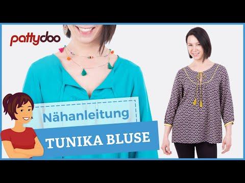 Eine Tunika/ Bluse nähen lernen - mit Abnäher, Raffung und ...