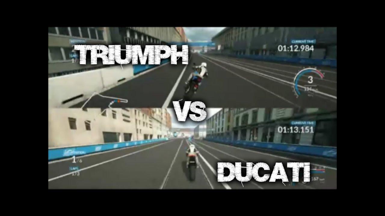 ride splitscreen triumph vs ducati milano ps4 youtube. Black Bedroom Furniture Sets. Home Design Ideas