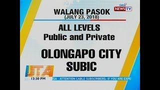 BT: Walang Pasok (July 23, 2018)