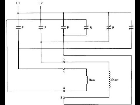 single phase motor reverse  forward connecttwo magnetic