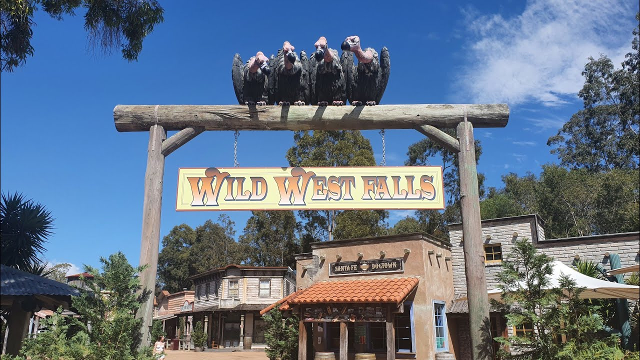 Riding Wild West Falls at Movie World. - YouTube