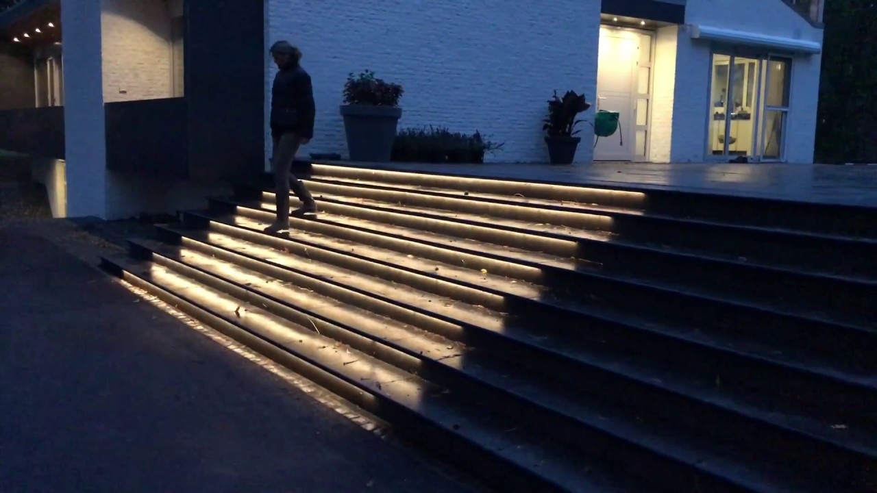 Automatic Led Stairs Lighting For Outdoor Setup