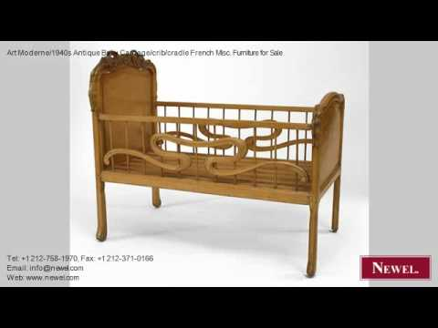 Art Moderne/1940s Antique Baby Carriage/crib/cradle French