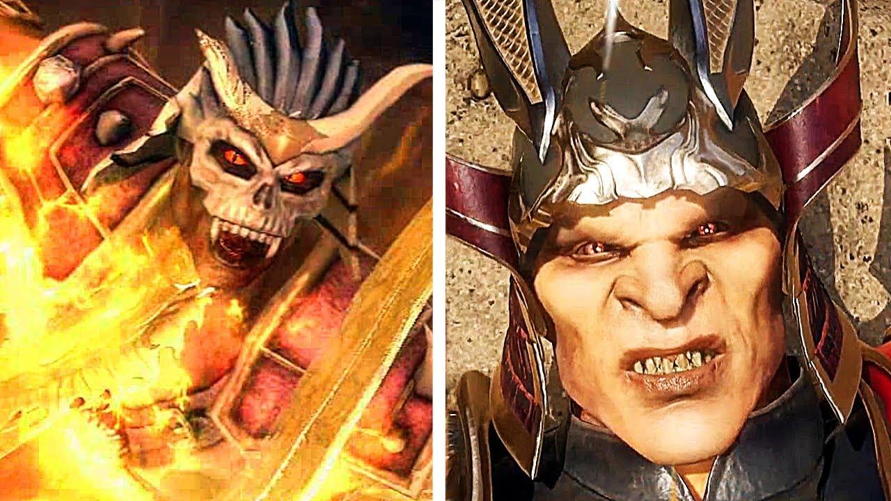 Mortal Kombat 11 Shao Kahn Todesszene gegen Mortal Kombat 9 Shao Kahn Todesszene Vergleich + video