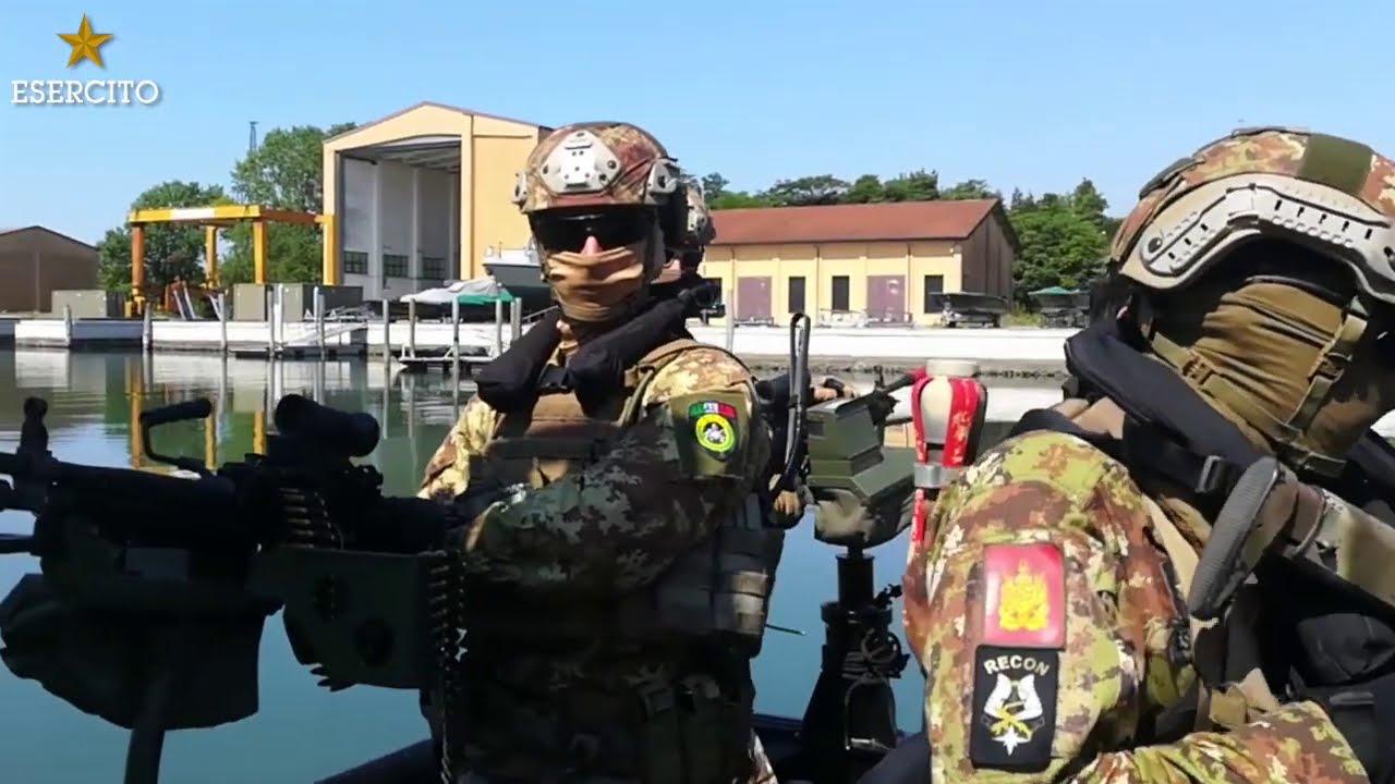 I lagunari dell'Esercito in addestramento