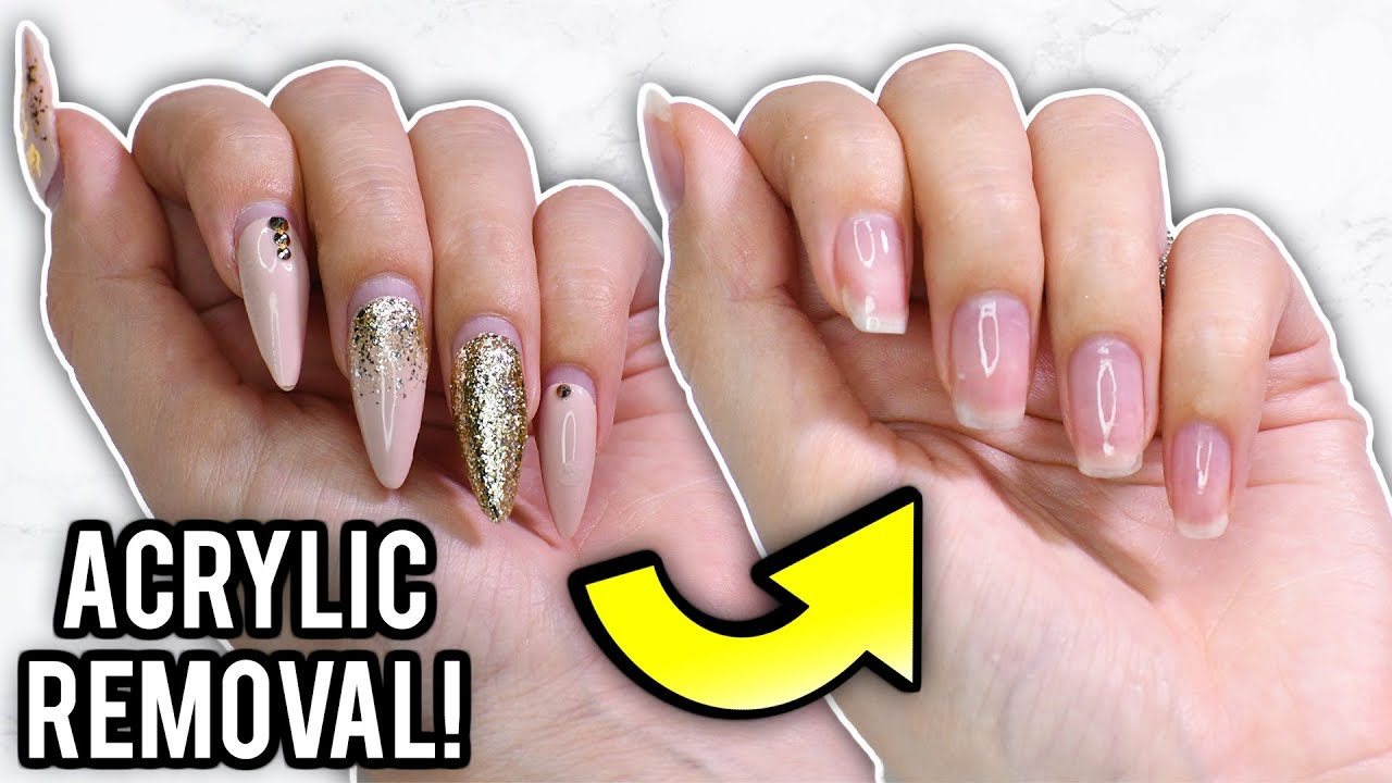 Remove Acrylic Nails At Home: Step By Step How-To Tutorial - YouTube