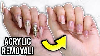 REMOVE ACRYLIC NAILS AT HOME WITHOUT A DRILL!
