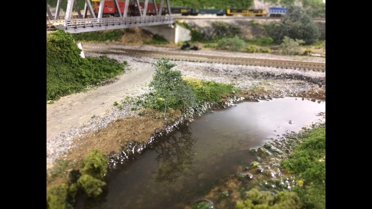 Model Railroad Scenery: Woodland Scenics Water!