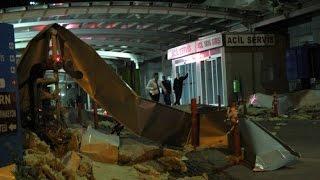 Lodos hastane çatısını böyle uçurdu