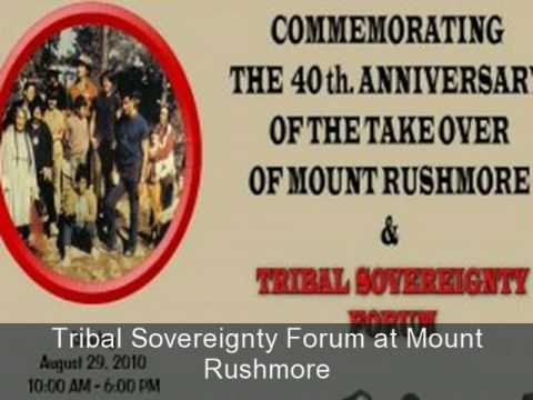 United Native Americans Hosts Tribal Sovereignty Forum at Mount Rushmore 8-29-2010