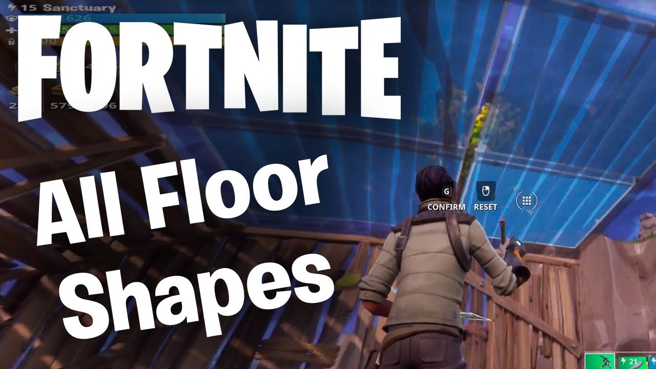 Fortnite Building Guide All Wall Shapes Staircases Floors