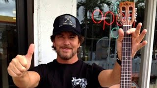 Eddie Vedder: How to play Can't Keep on ukulele (2012)