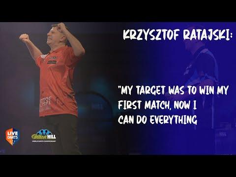 "Krzysztof Ratajski: ""My target was to win my first match, now I can do everything"""