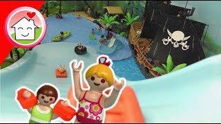 Playmobil Film deutsch - Riesenrutsche im Piraten Wasserpark - Familie Hauser Kinder Spielzeug Film