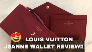 c838db6dbe22a LOUIS VUITTON JEANNE WALLET REVIEW! PROS   CONS