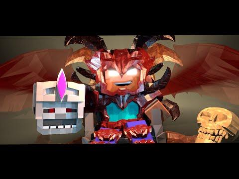 Supernatural Mobs: Skeleton King vs Herobrine! (Minecraft Animation)