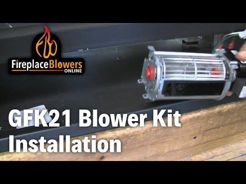 GFK-21Fireplace Blower Fan Kit Installation