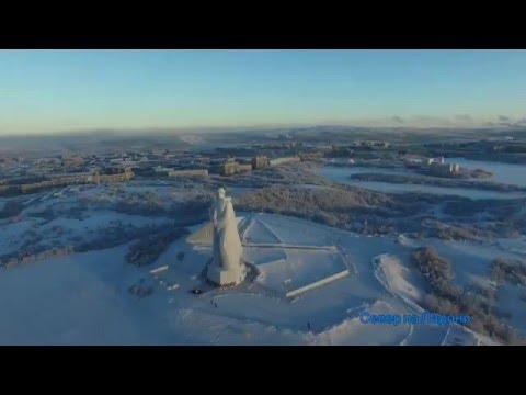 Мурманск 2016 с квадрокоптера. Murmansk 2016. DJI Phantom 3 Professionan