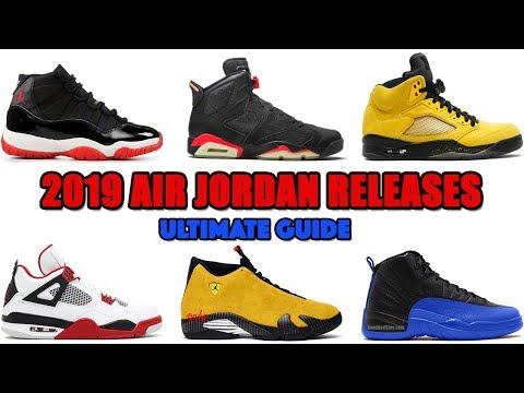 2019 AIR JORDAN RELEASES CONFIRMED +