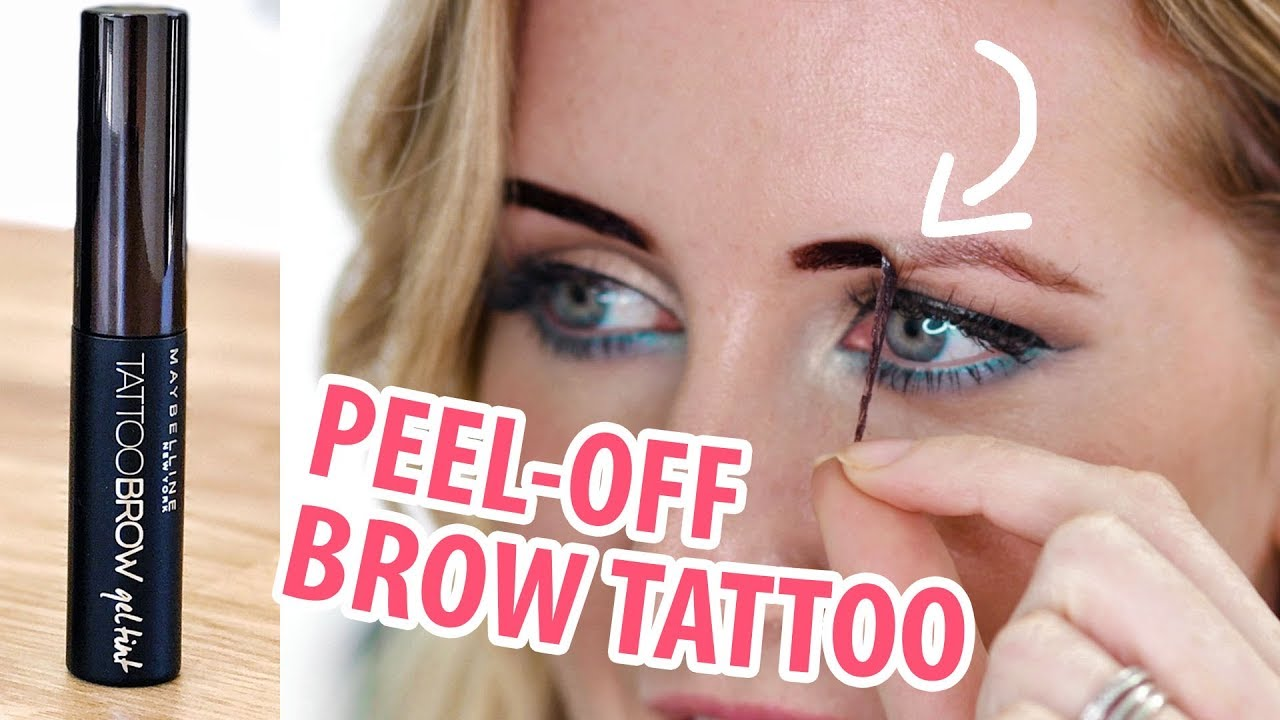 New Maybelline 3 Day Brow Tattoo Review Demo Youtube