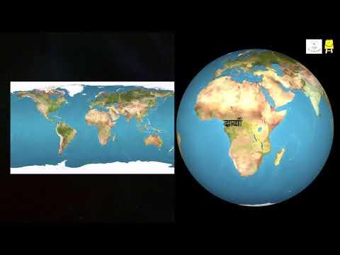 Finding places on Map and Globe(Hindi) - पृथ्वी के गोलेपर जगहों को ढूंढना