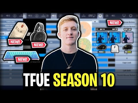 Tfue's Fortnite Settings, Keybinds And Setup For Season 10 (NEW MOUSE, KEYBOARD & MORE)