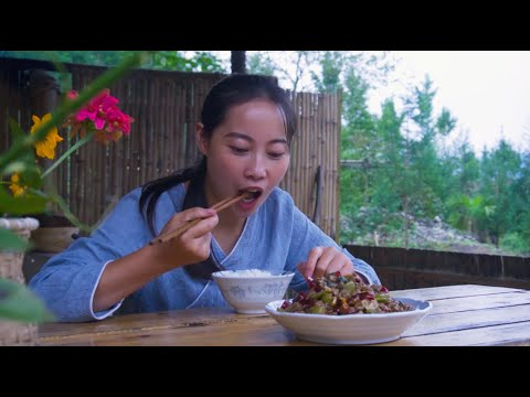 【山药村老板娘】宫爆牛肉的新做法,入口麻辣鲜香,就是太费白米饭