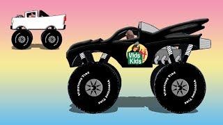 Monster Truck Colors 2 - Cool Monster Trucks On The Stunt Track