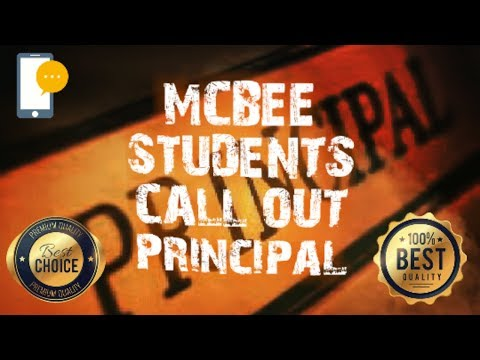 McBee High School Students Call Out Principal