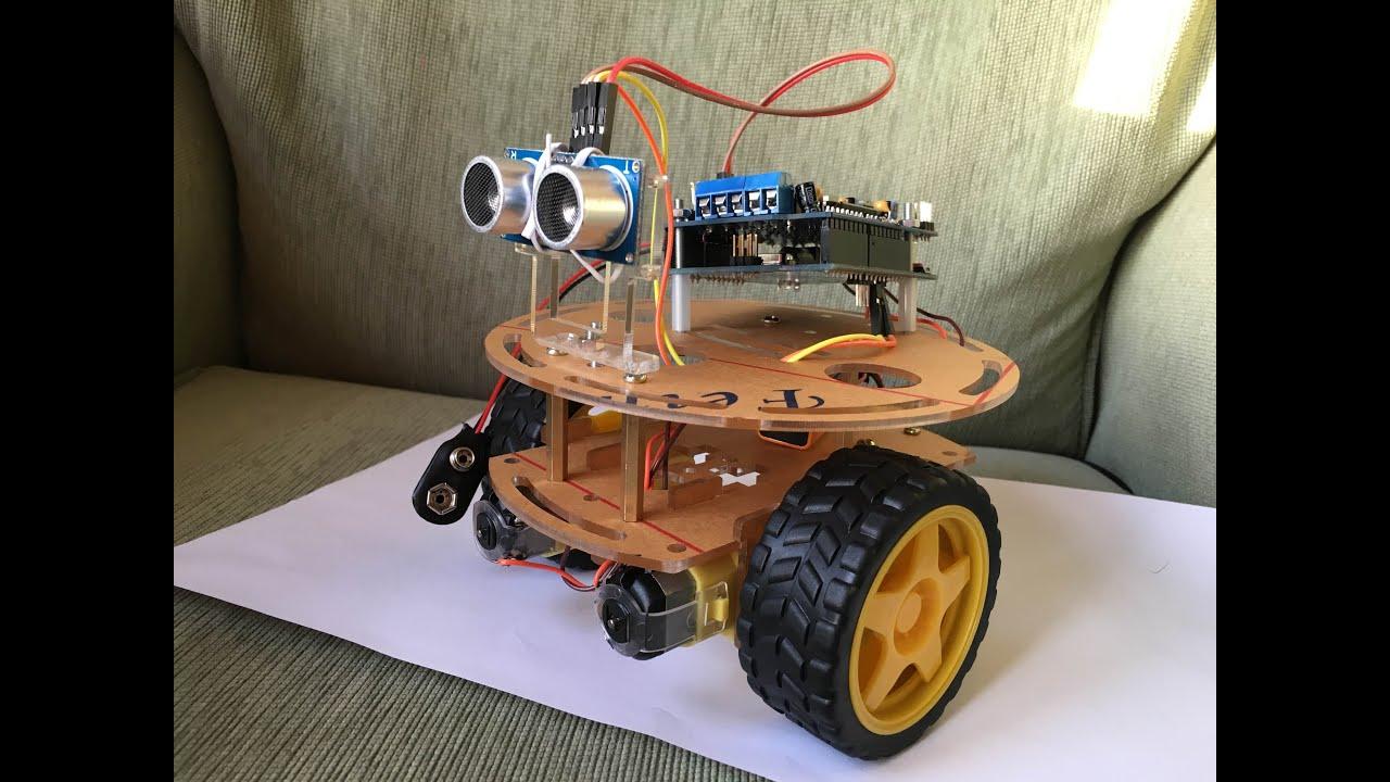 Arduino robot car wd r uno obstacle avoiding youtube