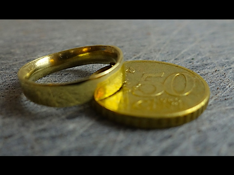GOUDEN RING MAKEN VAN 50 CENT MUNT! (DIY)