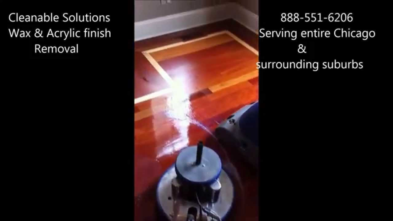 Acrylic Or Paste Wax Removal From Hardwood Floors