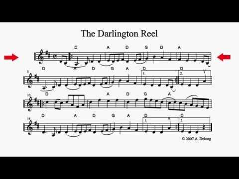 The Darlington Reel - playalong fiddle sheet music