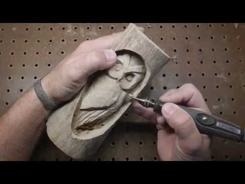 Wood Owl Carving