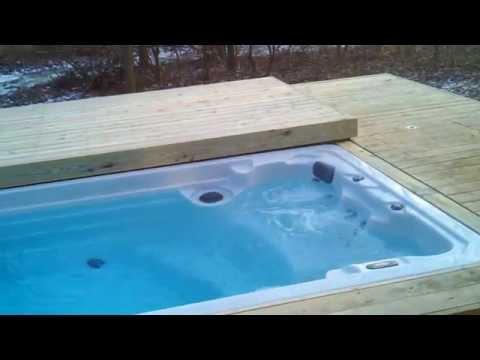 Decks4life Composite Deck With Motorized Pool Sliding C