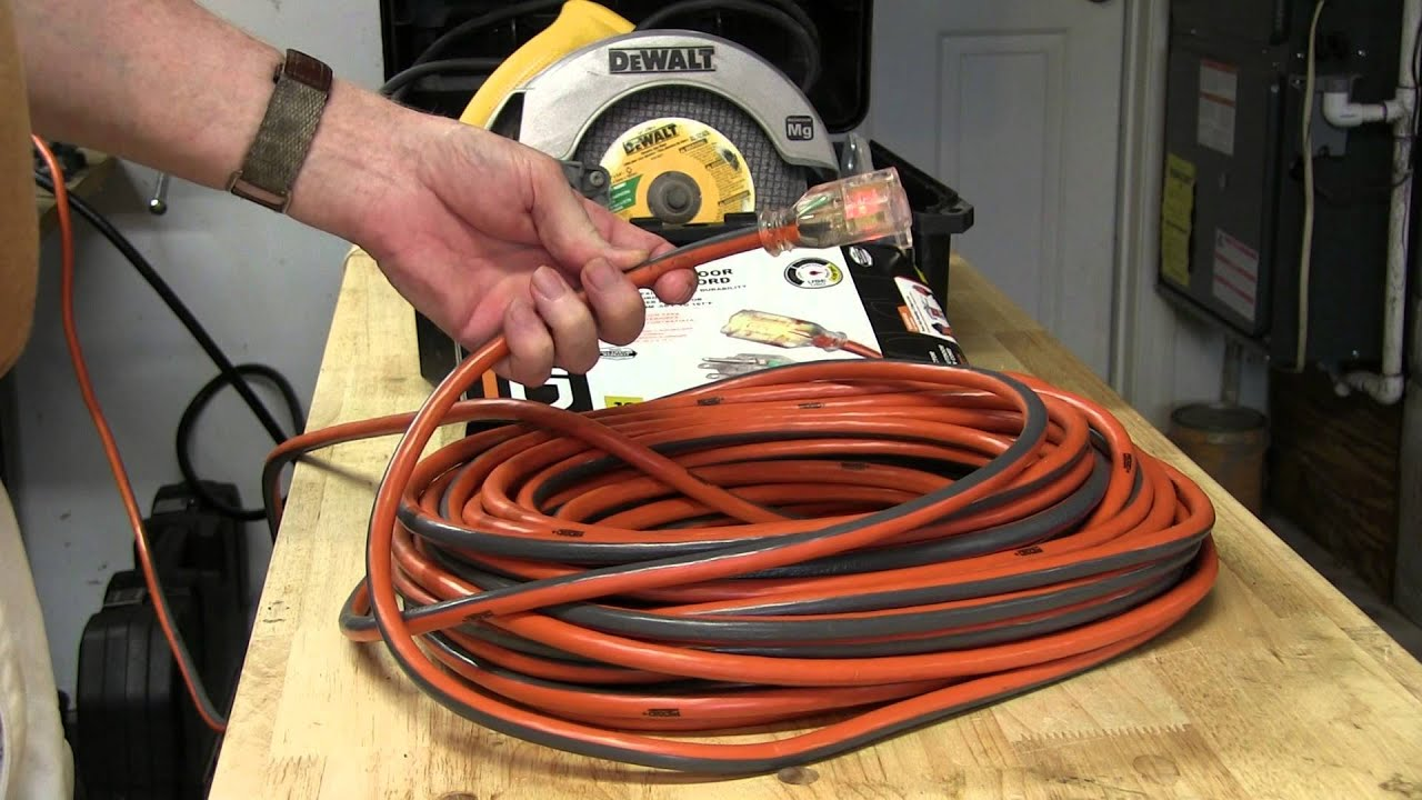 Ridgid 100 Ft 12 Gauge Extension Cord With Lighted Plug