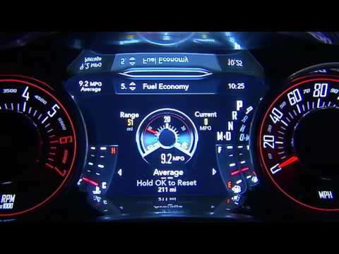 Instrument Cluster Display-Digital dashboard on the car instrument panel of 2017 Dodge Challenger