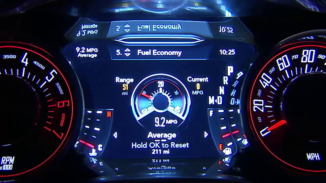 Instrument Cluster Display Digital Dashboard On The Car Instrument