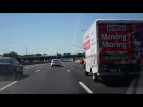 Driving south on I-75, near Atlanta, GA