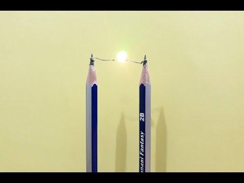 How To Make Mini Pencil Electricity Light - Homemade | USA TECH