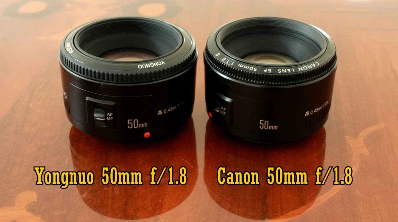 Yongnuo 50mm f/1.8 VS Canon! Comparison and full review (full-frame ...